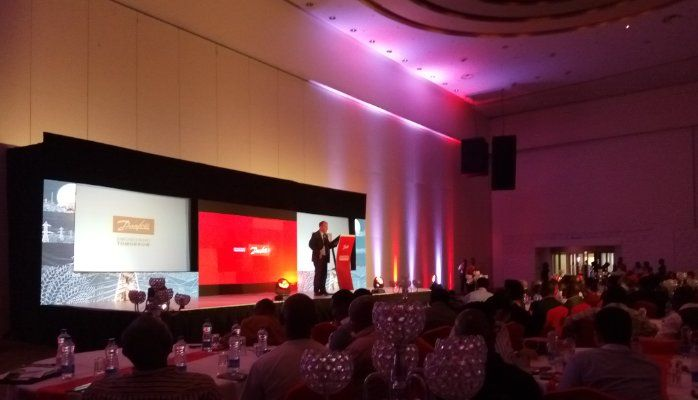 'Engineering Nigeria for a Better Tomorrow' Danfoss brand launch event in Nigeria. Viewpoint from one of the participants at the event. #EngineeringNigeria #Nigeria