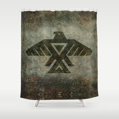 Emblem of the Anishinaabe people - Vintage version Shower Curtain