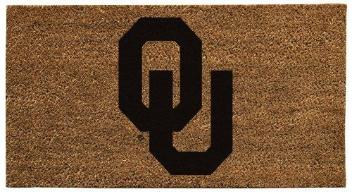 NCAA Oklahoma Sooners 16 x 28-Inch Coir Mat by Evergreen. $35.99. Show your team spirit with this NCAA officially licensed coir mat. Extremely durable and tough in high-traffic areas, with anti-skid surface. Coir is one of the strongest natural fibers in existence, extracted from the hairy husk of a coconut. Thick coir fibers are 100% organic and biodegradable, quick drying, water resistant, and absorb moisture without mildew. Easy to clean by vacuuming and washing with ...