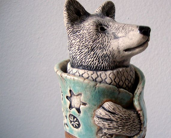 18 Best Images About Clay Wolf Sculptures On Pinterest