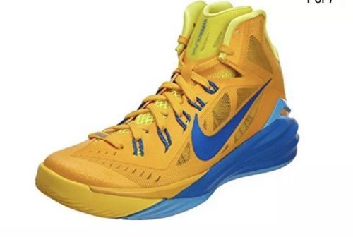 Basketball: Nike Mens Hyperdunk 2014 Basketball Shoes 653640 747 Gold/Blue/Yellow Size 12 -> BUY IT NOW ONLY: $69.99 on eBay!