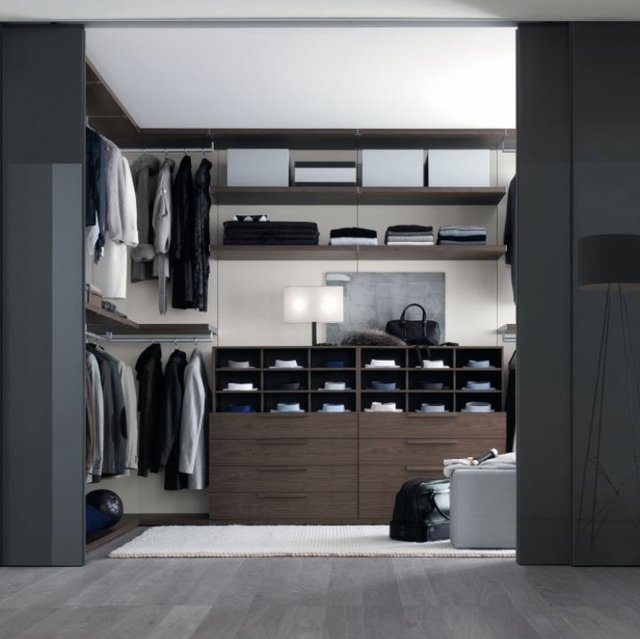 Interior, Smart Solution For Bedroom Closet Designs Combines With  Additional Lighting: Cool Walk In Wardrobe Modern Design