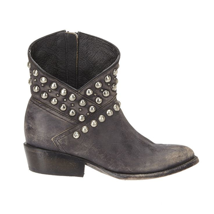 This asymmetrical leather boot is a little bit country, a little bit rock  n' roll
