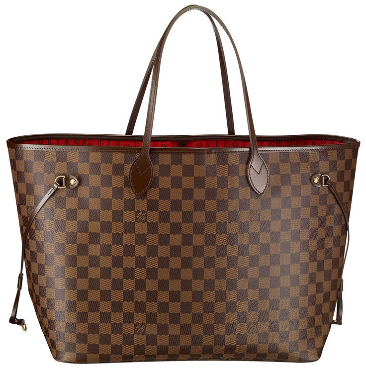 Neverfull GM in Damier canvas  http://www.louisvuitton.com/front/#/eng_US/Collections/Women/Handbags/products/Neverfull-GM-DAMIER-EBENE-N51106