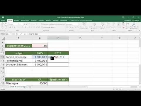Excel - Calculs de pourcentage - YouTube