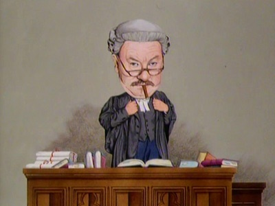 Horace Rumpole.Swiller of claret, quoter of poetry, always defends, takes the piss out of judges.What a hero.: Horac Rumpole Swil, Baileys Charicatur, Heroes, Superior Legally, Legally Britcom, Horac Rumpol Swil