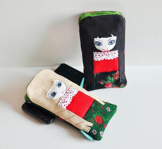 Phone case polish highlander doll folk dress by NinuMiluBagDolls