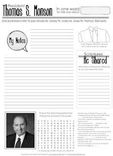 Conference worksheet ideas
