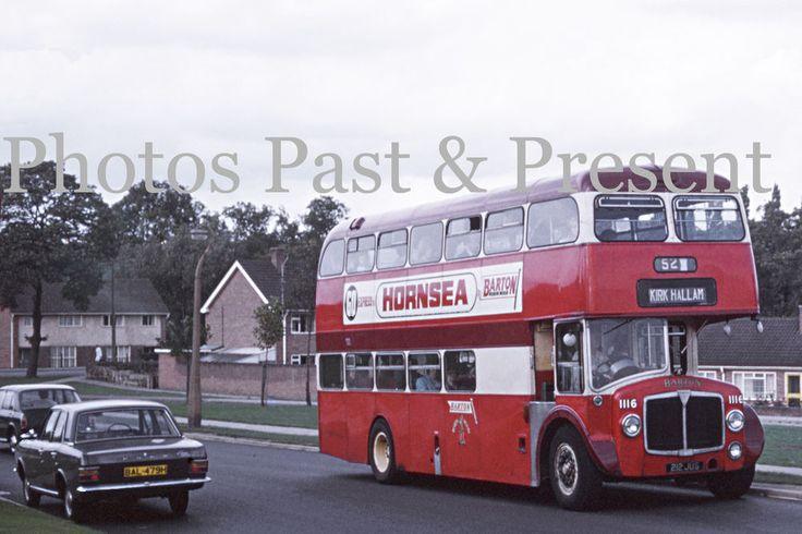 Ford Cortina MkII & AEC Barton Bus 212JUS at KIrk Hallam in 1970, Photo cs043a