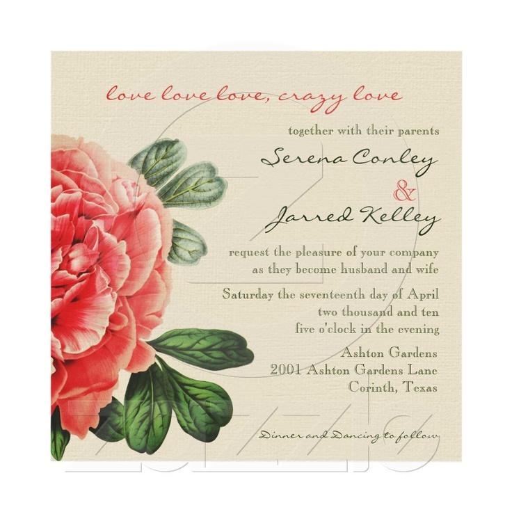 Red, Coral, Pink & Blush Peony Wedding Ensemble