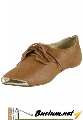 Pantofi piele Lefties Collection Brown (Lefties)