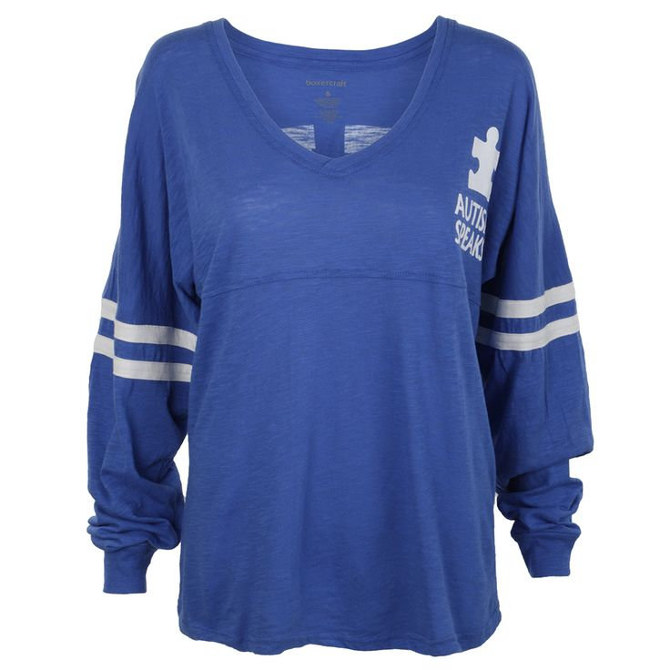 "Are you True Blue? Show it off with the Autism Speaks Spirit Jersey! Show your Autism Speaks spirit year round with this incredibly popular, built for comfort shirt. ""True Blue"" is featured in print across the back with the Autism Speaks logo on the..."