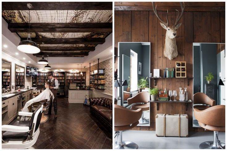 45 best salon de coiffure images on pinterest barber. Black Bedroom Furniture Sets. Home Design Ideas
