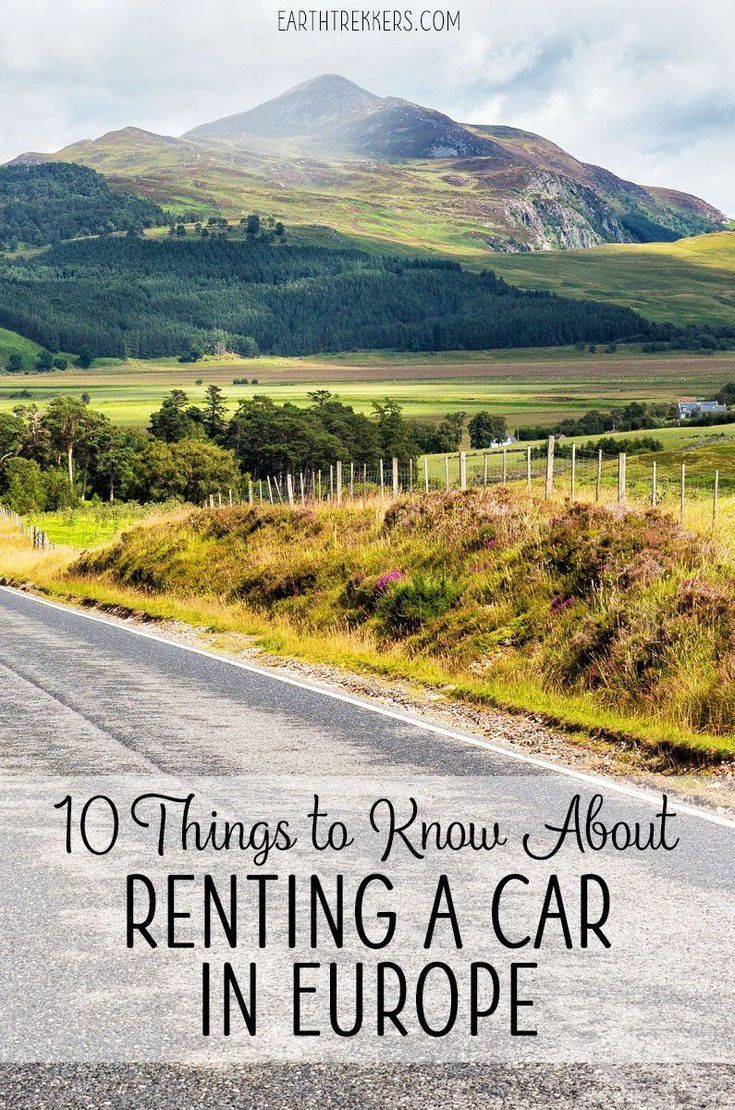 10 Things You Should Know About Renting A Car In Europe Car
