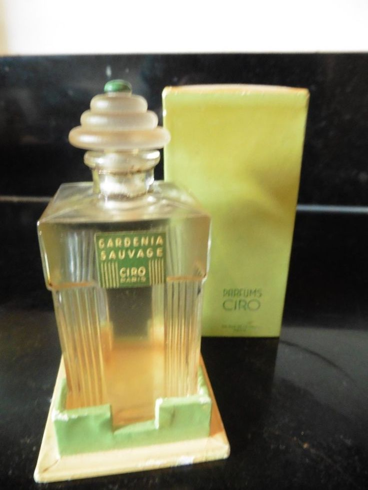 ART DECO Perfume Bottle 'Gardenia Sauvage' by CIRO Boxed.  | eBay