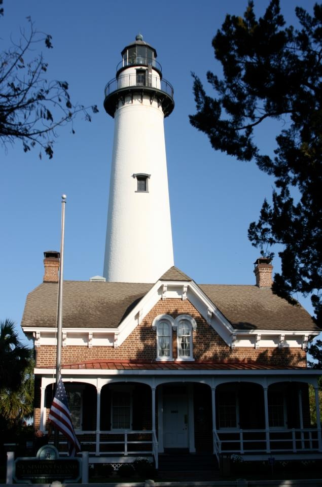 United States Lighthouse Society........   Saint Simon's Island GA........  Saint Simon's Island was rebuilt after the Civil War in 1872. It is located in a beautiful area and you can drive right to it for a tour of the grounds.