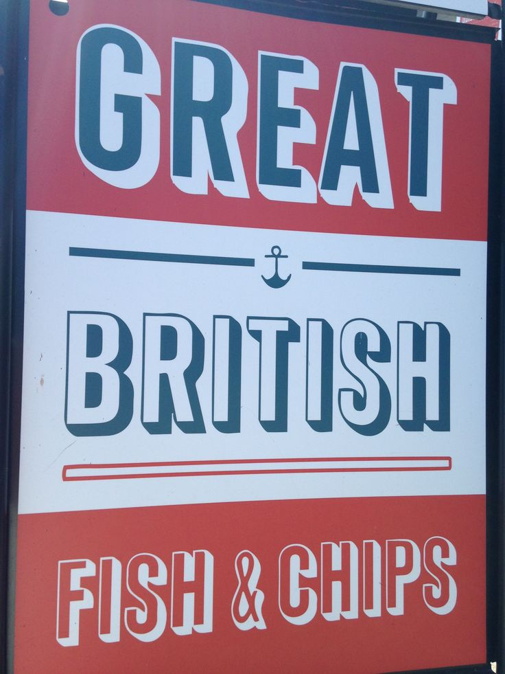Great British Fish & Chips - Red, white and blue - #fishfriday #classic #fridaynightfeast