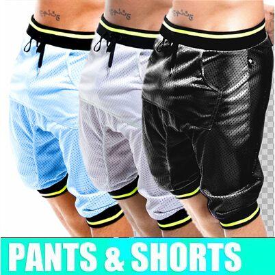 Хит! Мужские сексуальные спортивные шорты, для пробежек, 2016, боксеры для танцев Jogging, Harem, Slacks, Hip Hop, спортивные трусы для спортзала, свободные штаны