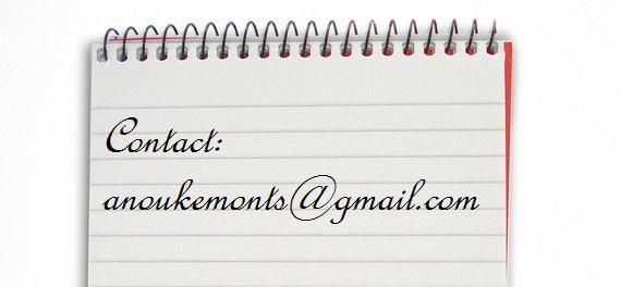 Op bovenstaand e-mailadres kunt u mij bereiken.