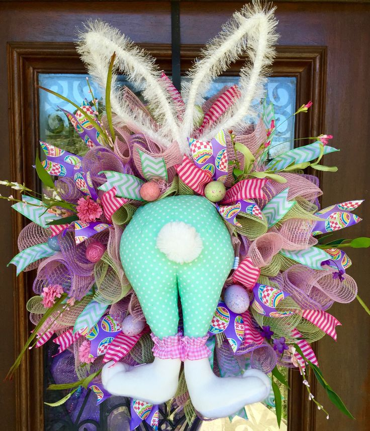 BUNNY BUTTT EASTER WREATH