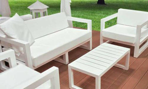 Goa Divano tre posti - Accidia: arredi da esterno per piscine, giardini, spiagge, ville, locali, club