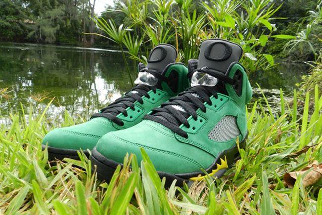 """Air Jordan 5 Retro """"Oregon Ducks"""" PE (Pictures)"""