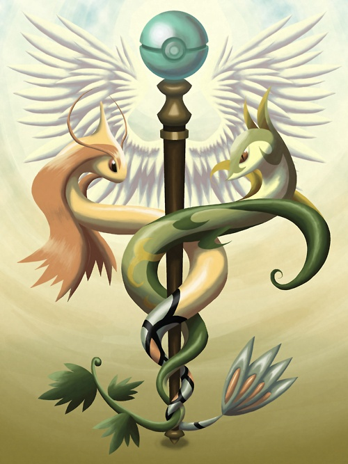 Medical Milotic And Serperior This Pokemon drawing is so cool.