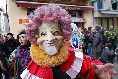 Carnaval de limoux Las Coudenos goudils Clown de l'époque
