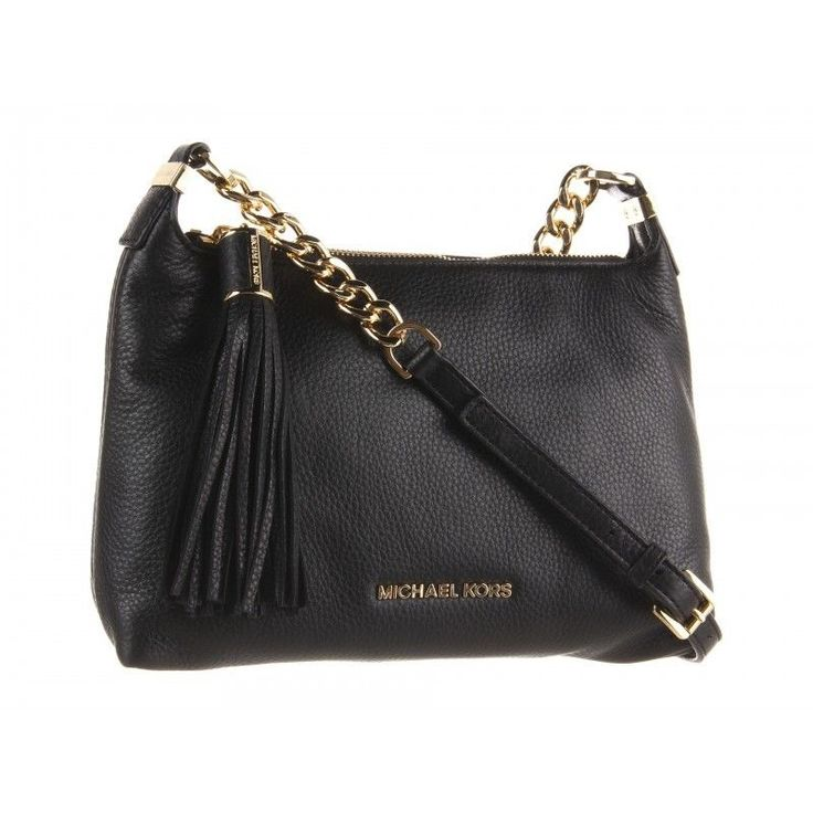 Michael Kors Weston Black Leather Crossbody Purse Bag #MichaelKors  #MessengerCrossBody