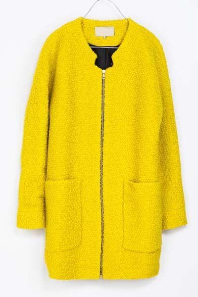 Front zipper coat