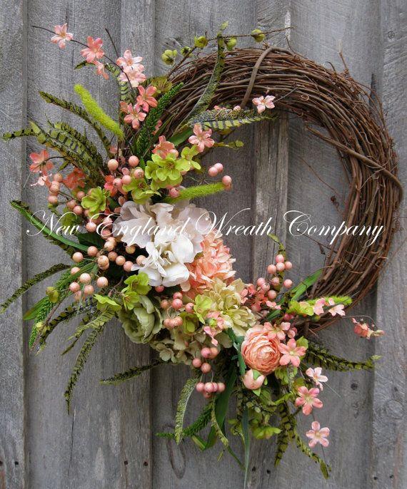 Woodland Spring Garden Berry Wreath by NewEnglandWreath
