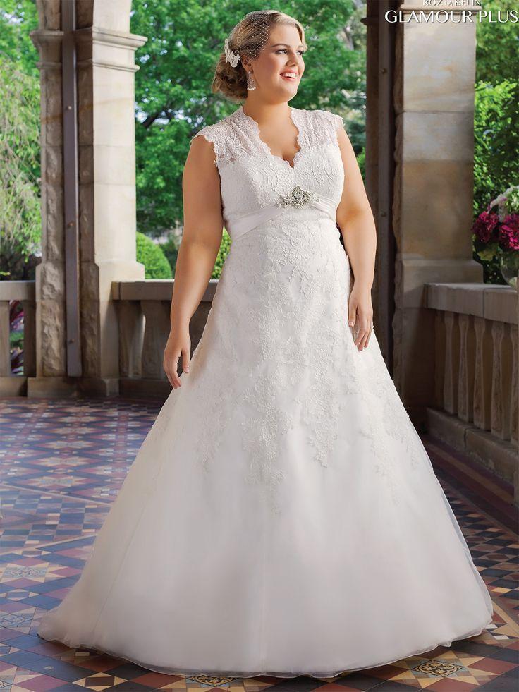 Rozlakelin Plus Size Wedding Gown Beatrix: DimitraDesigns.com
