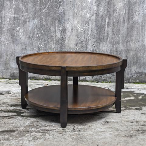 Uttermost Sigmon Black And Warm Honey Wood Coffee Table 32v85 Lamps Plus