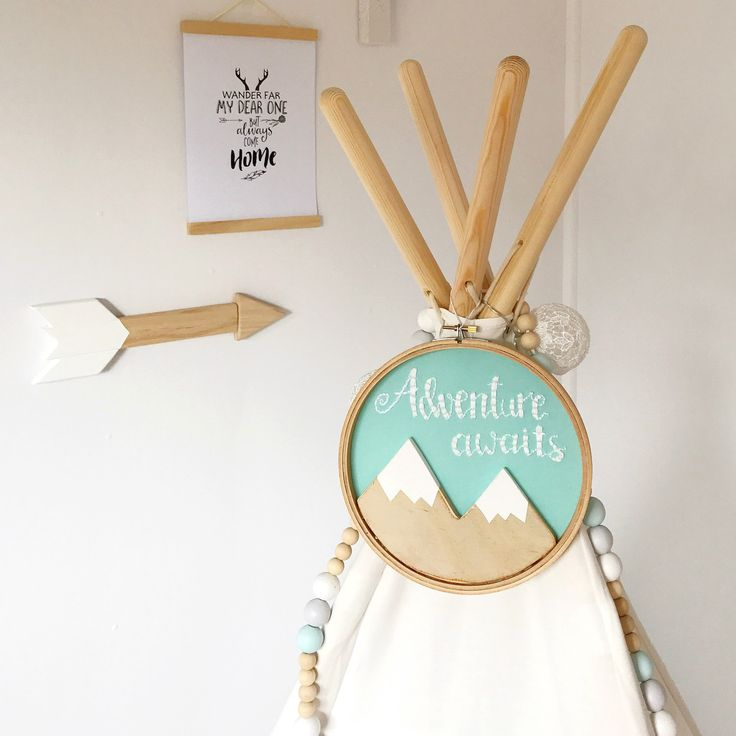 New tribal boho wanderlust hand embroidered 'Adventure awaits' wall hanging is listed and READY TO SHIP!! Get it asap!