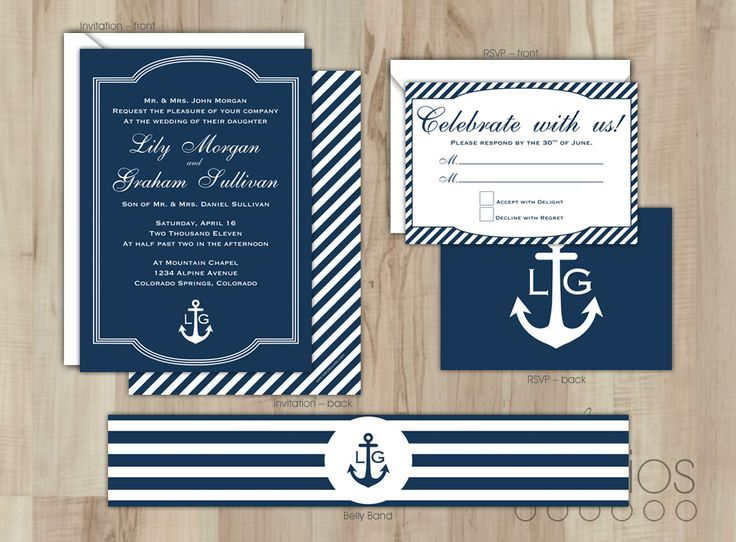 Nautical Wedding Invitation Suite by lestudios