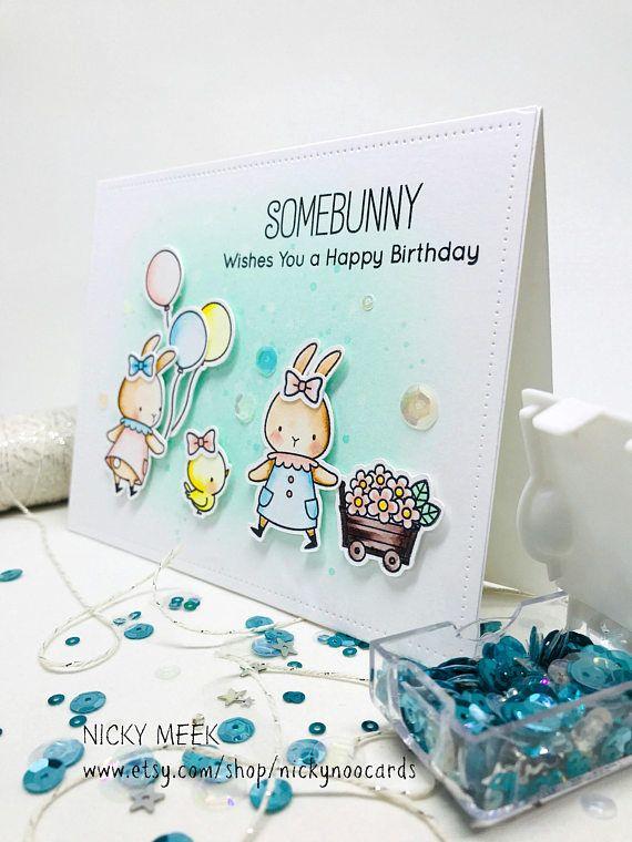 Somebunny - MFT.  Card by Nicky Noo Cards #nickynoocards