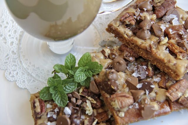 Salted Toffee Chocolate Pecan Squares | Food | Pinterest