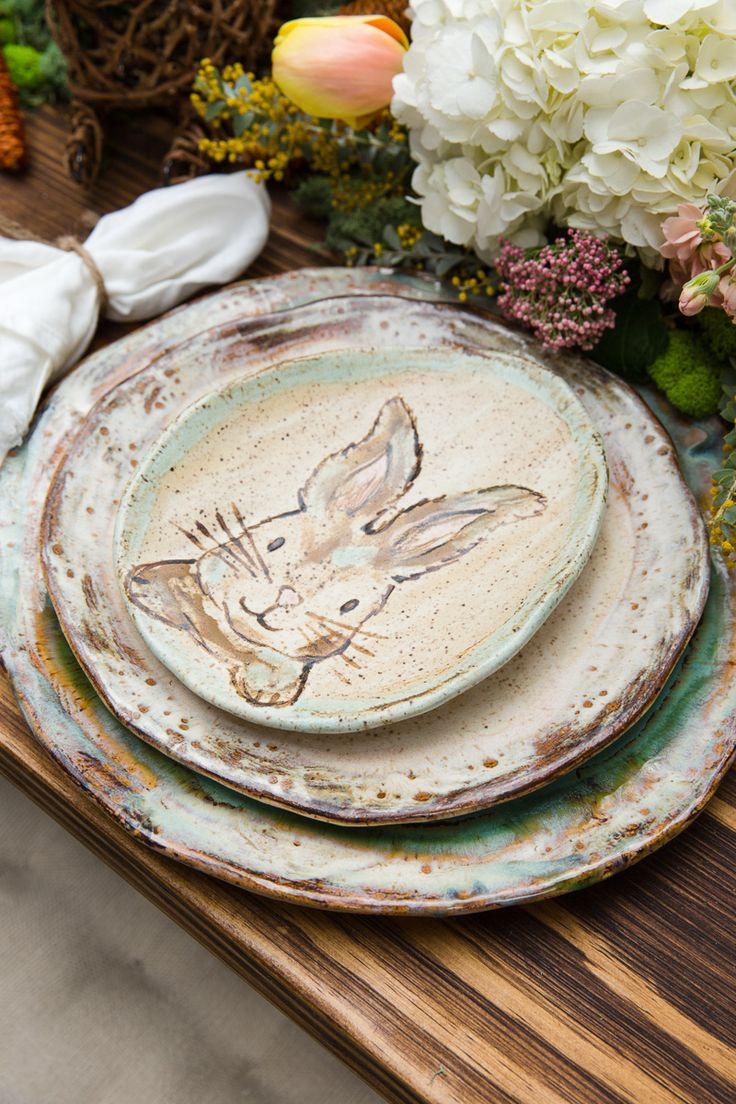 etta b easter pottery bella vita Bunny dishes, Easter