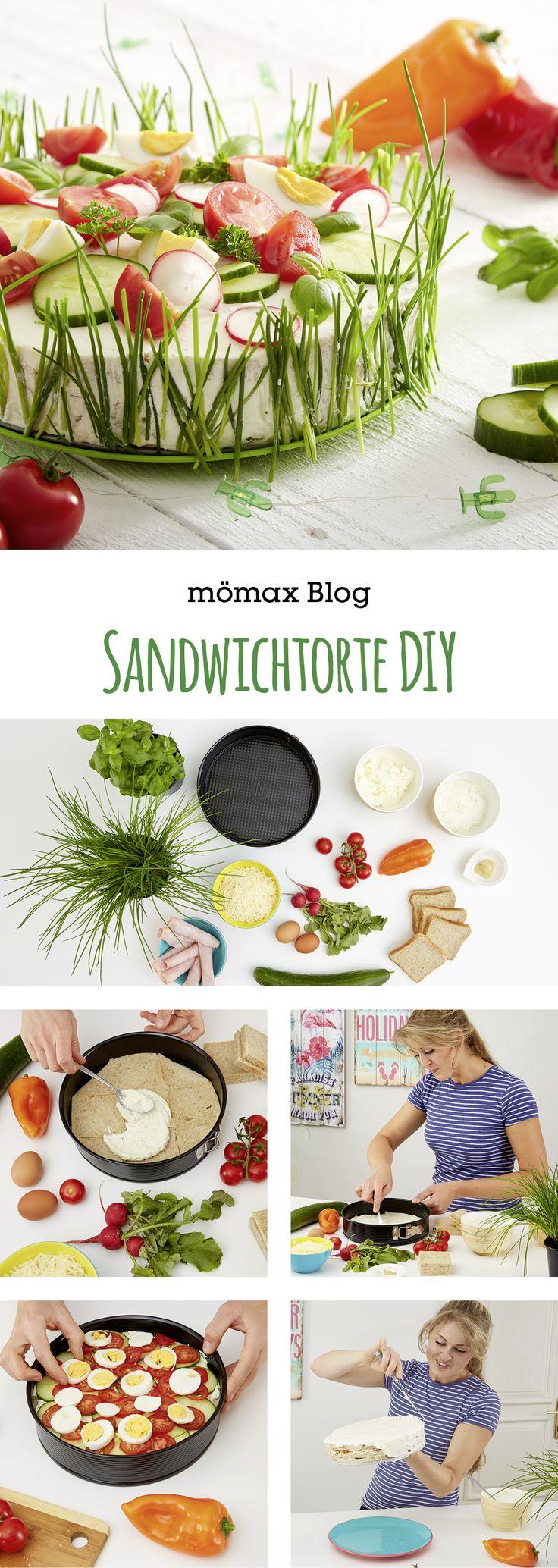 Pikante Sandwichtorte selber machen Pikante Sandwichtorte 🍰 einfach selber machen! 👍🏻Du benötigst dafür nur ein paar Zutaten – Anleitung am mömax Blog!