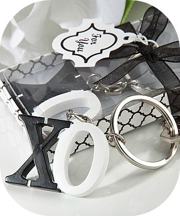 XOXO Keychain Favors - Wedding Party Souvenirs