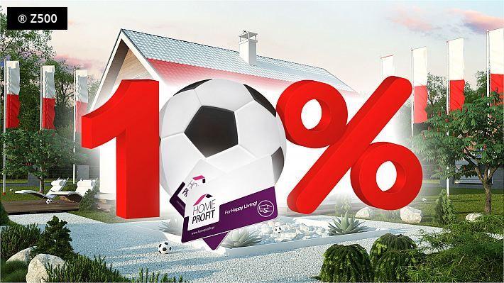 KIBICUJEMY NASZYM! Extra promocja 10% rabatu na wszystkie projekty domów na stronie www.z500.pl