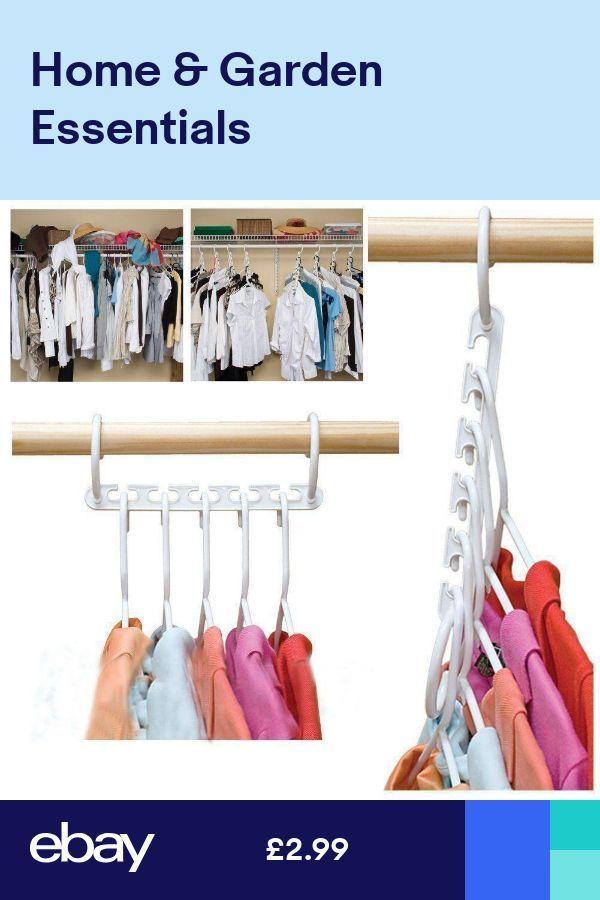 Multi Function Clothes 8 Hangers Saving Space Closet Organizer Magic Wonder Rack Multi Fun In 2020 Clothes Hanger Rack Clothes Closet Organization Closet Space Savers