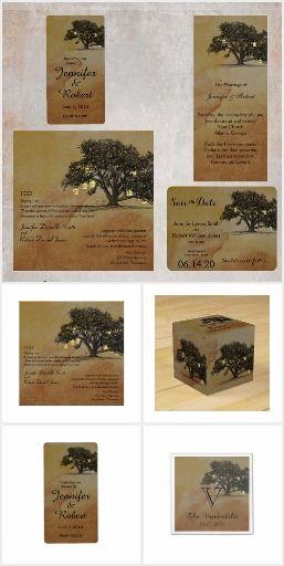 Fall Oak Lantern Wedding Collection