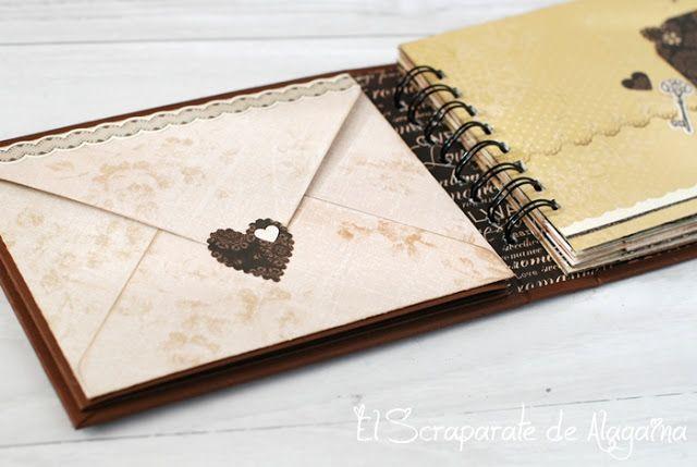 El Scraparate de Alagaina: Tutorial decoración Album True Love