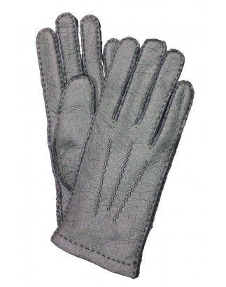 Damen Handschuhe Leder - warme Lederhandschuhe mit Schurwolle gefüttert, Luxus Handschuhe reduziert