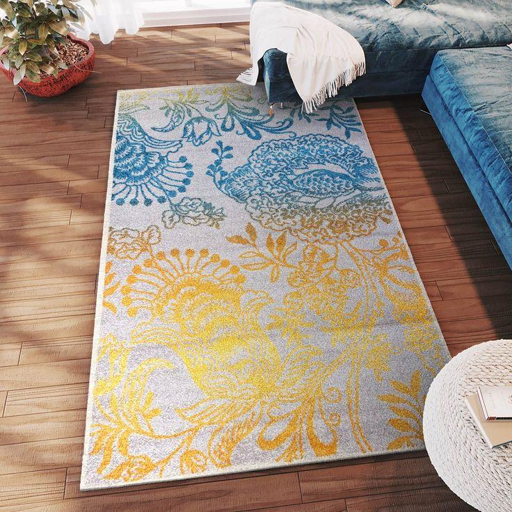 Transitional Rug Gray & Multi High Quality Carpet Polypropylene  #rugs #decor #floordecor #homeideas #homedecor #carpet #interiorstyling #decorating #fab #arearugs