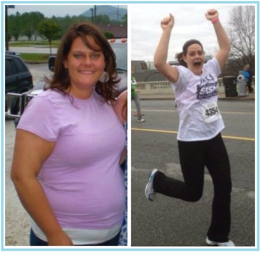 weight loss before and after running
