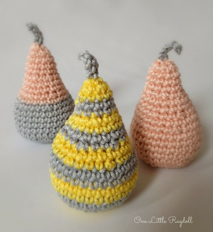 amigurumi pears by One Little Ragdoll