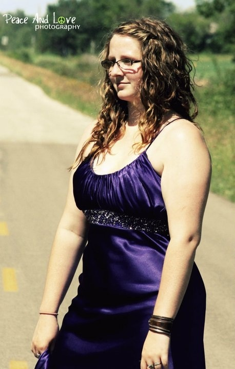 From Grad 2011, beautiful dress and long hair!