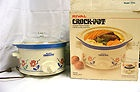 Vintage Rival Crock Pot Slow Cooker Stoneware Removable 3 5 Quart Crock Round | eBay